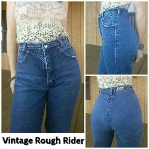 Vintage Rough Rider high waisted moto mom jeans